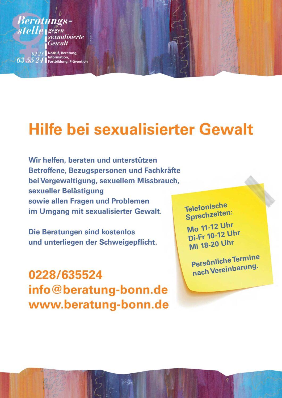 Plakat der Beratungsstelle