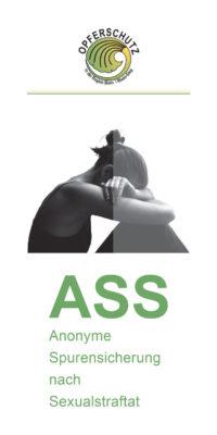 Titelseite des Flyers: Anonyme Spurensicherung nach Sexualstraftat