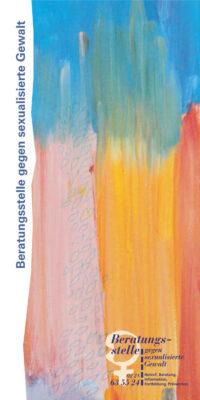 Titelseite des Flyers der Beratungsstelle für sexualisierte Gewalt