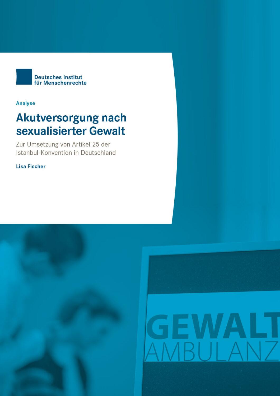 """Titelseite der Broschüre """"Akutversorgung nach sexualisierter Gewalt"""""""