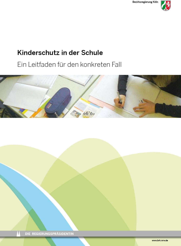 Titelseite Broschüre Kinderschutz in der Schule